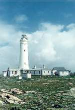 The beautiful and well-known lighthouse of Cape St. Francis