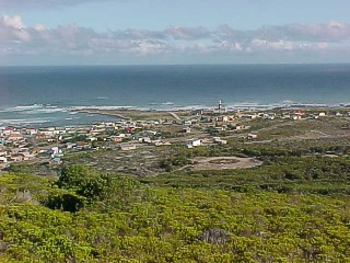 Panoramic view of L'Agulhas from a nearby hill